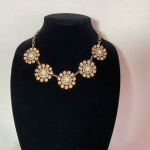 Beautiful fashion necklace with crystal flowers.